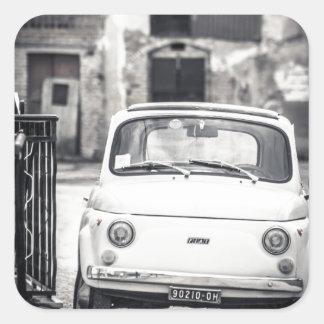 Fiat 500, Cinquecento en Italia Pegatina Cuadrada