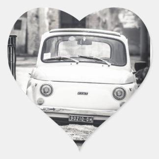 Fiat 500, Cinquecento en Italia Pegatina En Forma De Corazón