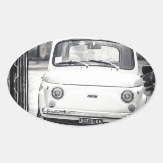 Fiat 500, Cinquecento en Italia Pegatina Ovalada