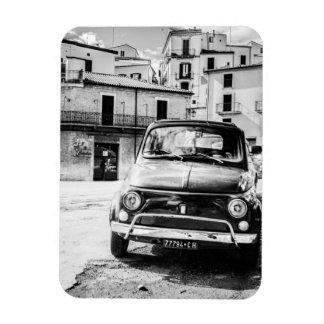 Fiat 500, cinquecento en Italia, regalo clásico de Imán Rectangular