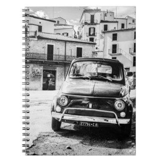 Fiat 500, cinquecento en Italia, regalo clásico de Libros De Apuntes