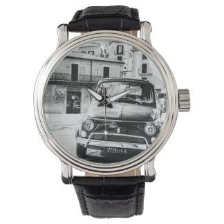 Fiat 500, cinquecento en Italia, regalo clásico Reloj De Mano