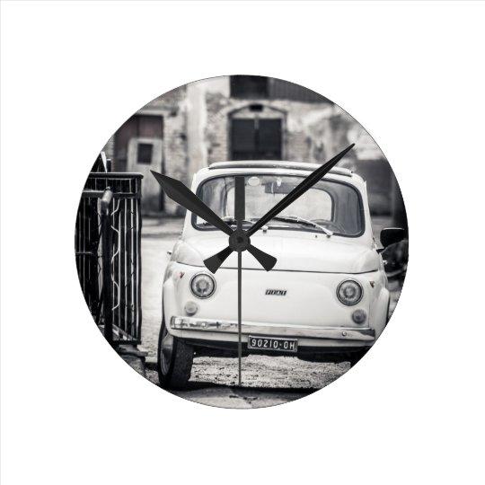 Fiat 500, Cinquecento en Italia Reloj Redondo Mediano