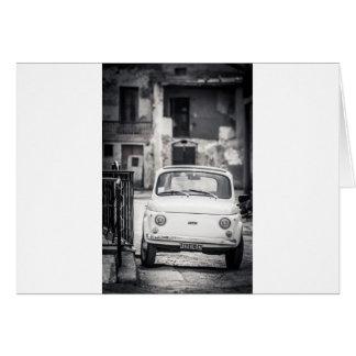 Fiat 500, Cinquecento en Italia Tarjeta De Felicitación