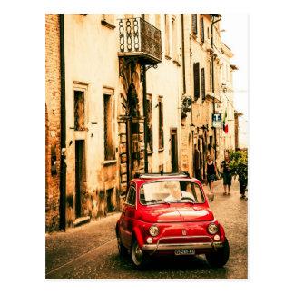 Fiat 500, Cinquecento en Italia Tarjeta Postal