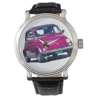 Fiat 500 Cinquecento en Roma, Italia, reloj