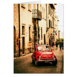 Fiat 500 Cinquecento en Umbría, Italia Tarjeta De Felicitación