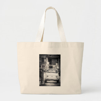Fiat 500, Cinquecento in Italy Large Tote Bag