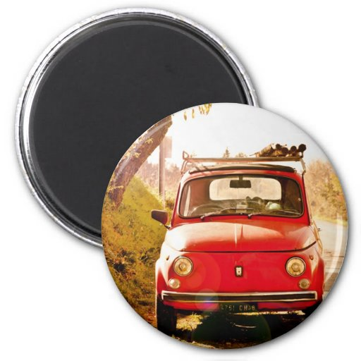 Fiat 500, cinquecento in Italy Magnets