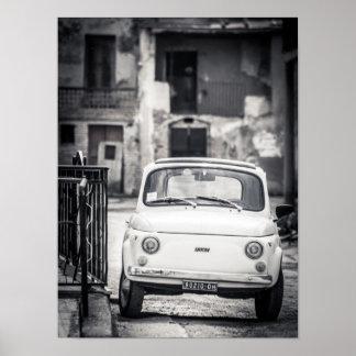 Fiat 500, Cinquecento, in Italy Poster