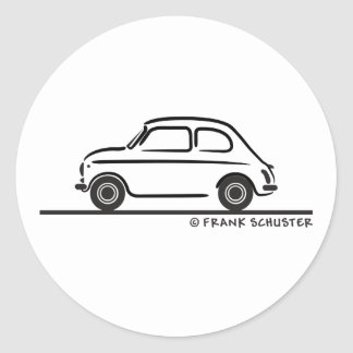Fiat 500 Cinquecento Pegatina Redonda