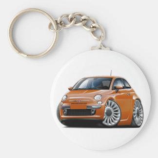 Fiat 500 Copper Car Basic Round Button Keychain