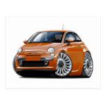 Fiat 500 Copper Car Postcard