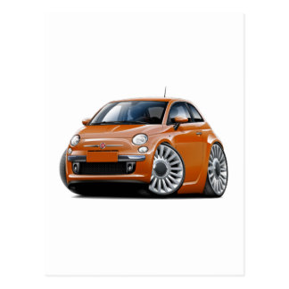 Fiat 500 Copper Car Postcard