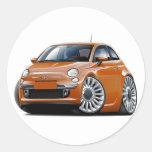 Fiat 500 Copper Car Stickers