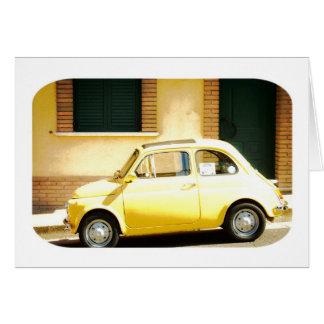 Fiat 500 en Italia, cinquecento, tarjeta del vinta
