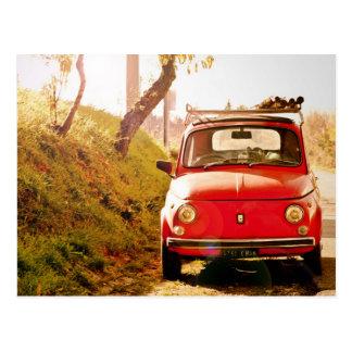 Fiat 500 en Italia Tarjeta Postal