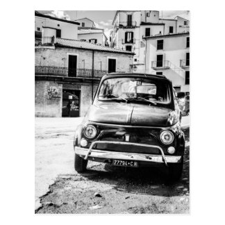 Fiat 500 en regalos retros del viaje de Italia Tarjetas Postales