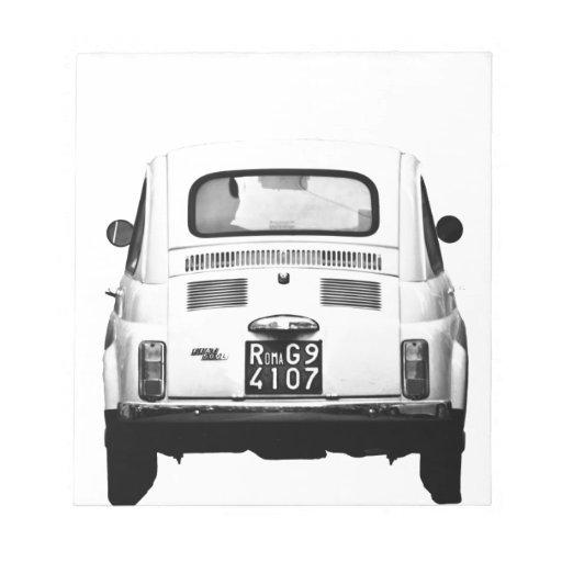 Fiat 500 en Roma, Italia Bloc De Papel