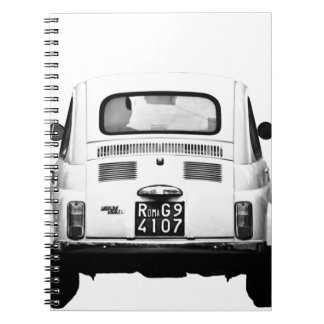 Fiat 500 en Roma, Italia Libro De Apuntes Con Espiral