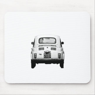Fiat 500 en Roma, Italia Mouse Pads