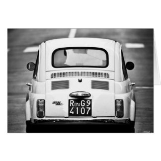 Fiat 500 en Roma, Italia Felicitacion