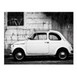 Fiat 500 en Roma, Italia Tarjetas Postales