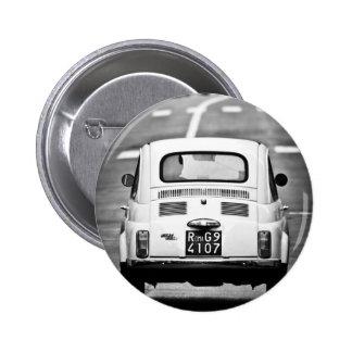 Fiat 500 en Roma Pin Redondo De 2 Pulgadas