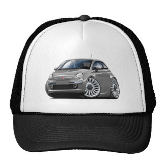 Fiat 500 Grey Car Trucker Hat