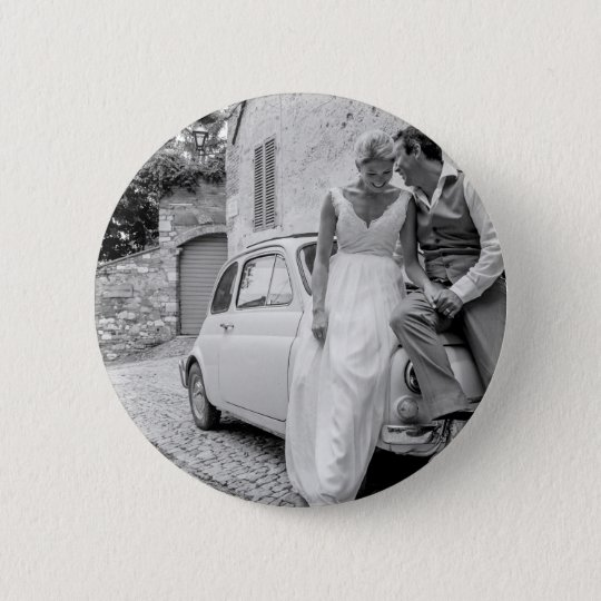 Fiat 500 In Italy Classic Wedding Gifts Pinback Button Zazzle
