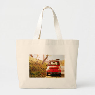 Fiat 500 in Italy Large Tote Bag