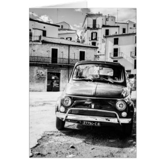 Fiat 500 in Italy retro travel gifts Card