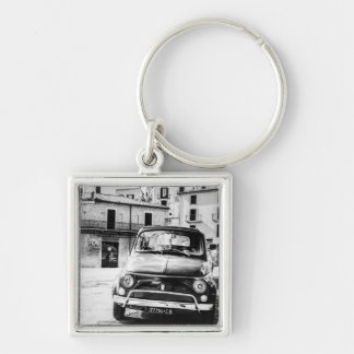 Fiat 500 in Italy retro travel gifts Keychain