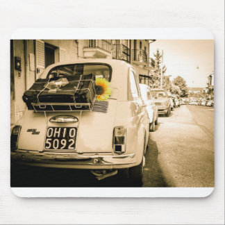 Fiat 500 in Italy, sunflower design mouse mat