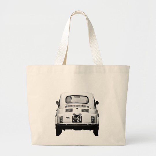 Fiat 500 in Rome, Italy. Large Tote Bag