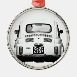 Fiat 500 in Rome, Italy. Metal Ornament