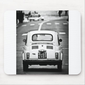 Fiat 500 in Rome, Italy Mouse Pad