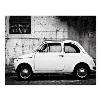 Fiat 500 in Rome, Italy Postcard