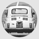 Fiat 500 in Rome, Italy Round Stickers