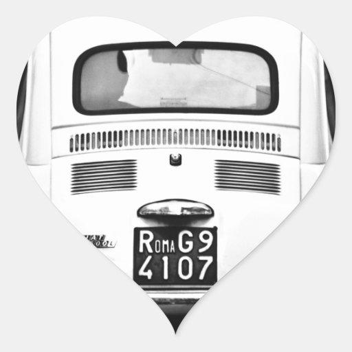 Fiat 500 in Rome, Italy. Sticker
