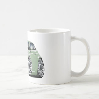 Fiat 500 Lt Green Car Classic White Coffee Mug