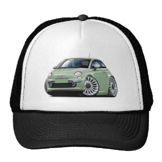 Fiat 500 Lt Green Car Trucker Hat