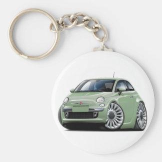 Fiat 500 Lt Green Car Keychain