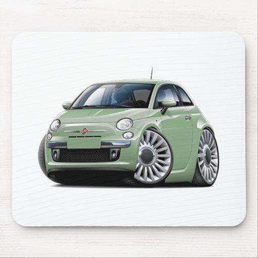 Fiat 500 Lt Green Car Mouse Pads