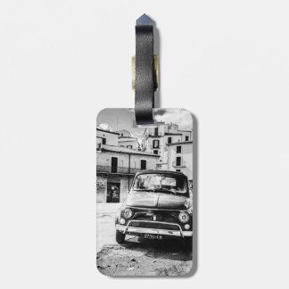 Fiat 500 Luggage tag, classic Italian Car Luggage Tag