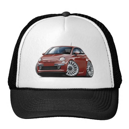 Fiat 500 Maroon Car Hats