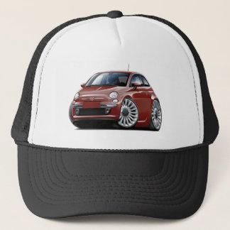 Fiat 500 Maroon Car Trucker Hat