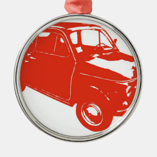 Fiat 500 metal ornament