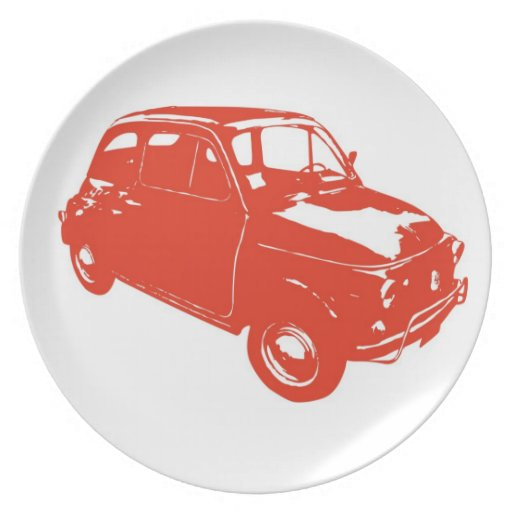 Fiat 500 party plates