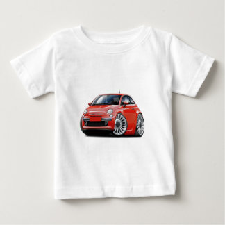 Fiat 500 Red Car Baby T-Shirt